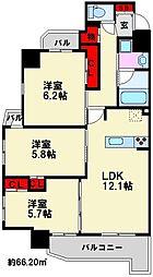 コンダクトレジデンス那珂川[5階]の間取り