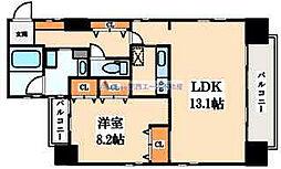 住真田山EAST[3階]の間取り