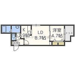ラ・コーザN10[1階]の間取り