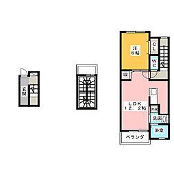 エスポワール東島A[3階]の間取り