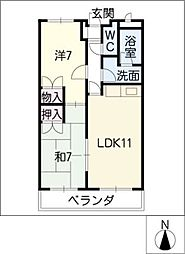 ラフォーレイトウ3[2階]の間取り
