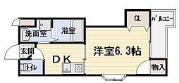 大阪府守口市紅屋町の賃貸マンションの間取り