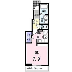 広島県広島市佐伯区五日市町昭和台の賃貸アパートの間取り