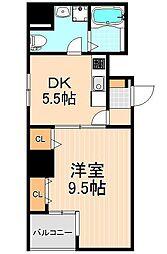 KWレジデンス三ノ輪II[4階]の間取り