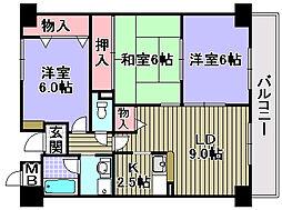 サンクレスト岸和田[505号室]の間取り