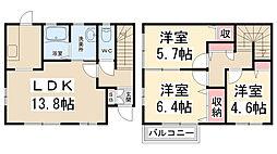 [タウンハウス] 兵庫県川西市萩原1丁目 の賃貸【/】の間取り