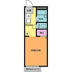 ドミールHASE A[1階]の間取り