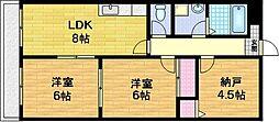 パークアベニュー藤ノ森[2階]の間取り