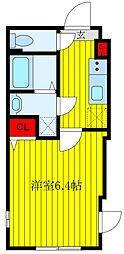 Grand Residence OJI 2階1Kの間取り
