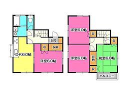 [一戸建] 埼玉県所沢市東狭山ケ丘6丁目 の賃貸【/】の間取り