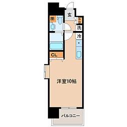 SUM広瀬通 11階ワンルームの間取り