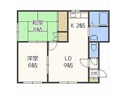 北海道札幌市東区北十六条東13丁目の賃貸アパートの間取り