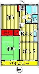 川畑マンション[3階]の間取り