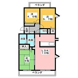 シャントクレール[4階]の間取り