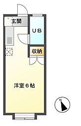 コーポふじ[1階]の間取り