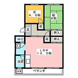 杉山コーポ C棟[1階]の間取り