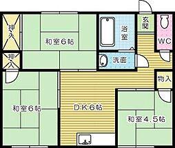 松股アパート[201号室]の間取り