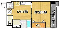 コンダクト小倉No.1ビル[2階]の間取り