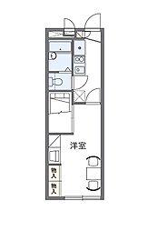 レオパレスカルチェ[2階]の間取り