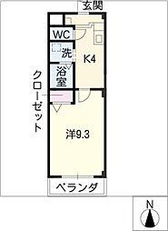 ライフマンション[3階]の間取り