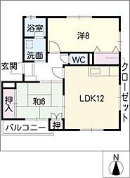 HSハイツ[2階]の間取り