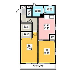 レトアSKII[2階]の間取り