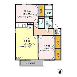 メゾン・トモトール(川中島町上氷鉋)A棟[202号室号室]の間取り