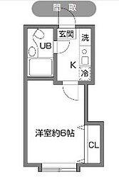 アーバンハイム成城2[102号室]の間取り