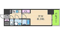 Osaka Metro中央線 阿波座駅 徒歩5分の賃貸マンション 5階1Kの間取り
