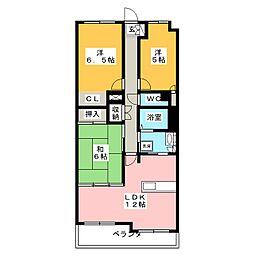 野村ステイツ御器所 502[5階]の間取り