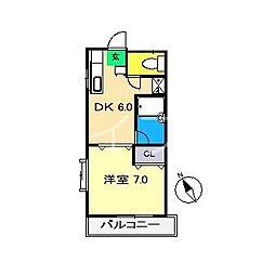 ラ・トゥール[1階]の間取り