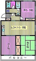 ソシア・アマヌマ[102号室]の間取り
