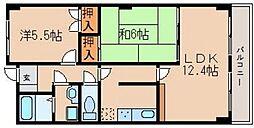 ピュアメイト山崎II[1階]の間取り