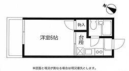 メゾンフジ12階Fの間取り画像