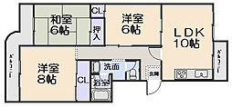 新檜尾台第1次住宅12号棟[3階]の間取り