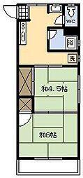 レジデンス江光[208号室]の間取り