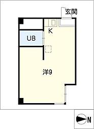 大須WEST[3階]の間取り
