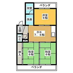 エスタシオンフロール[3階]の間取り