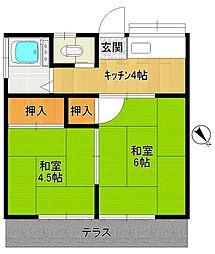第二太田荘[102号室]の間取り