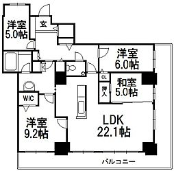 D'グラフォート東札幌ビエントタワー[2707号室]の間取り