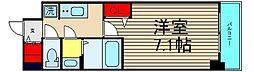 ファステ―ト難波グランプリ 6階1Kの間取り