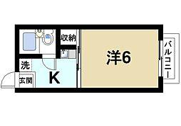 京都府木津川市相楽神後原の賃貸アパートの間取り