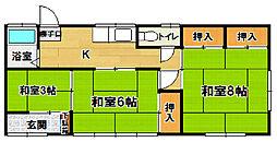 [一戸建] 茨城県つくば市上ノ室 の賃貸【茨城県 / つくば市】の間取り