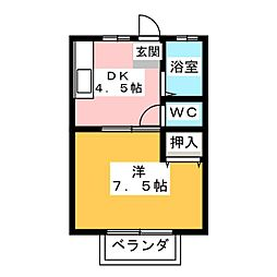 college home suncity[1階]の間取り