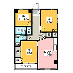 パープルマンション[2階]の間取り