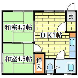 清和ハウス[2階]の間取り