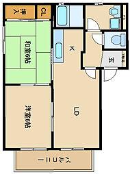 シャーメゾン宗[2階]の間取り