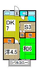ハイム大京[203号室]の間取り