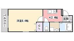 Marina Palace薬円台[203号室]の間取り
