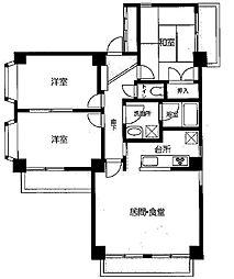 カーサビアンカチンクエ[2階]の間取り